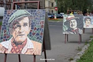 Brașov, Romania, street art, paintings