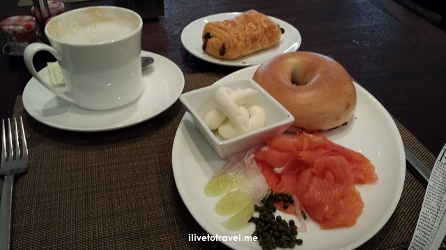smoked salmon, pain au chocolat, breakfast, Sofitel