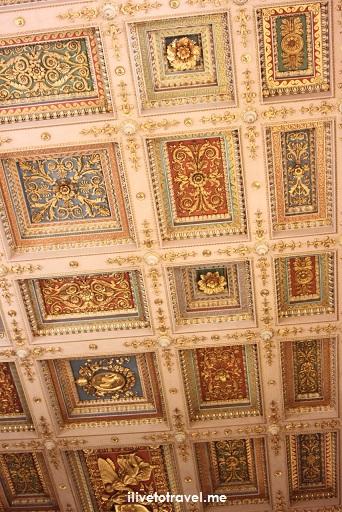 Rome, St. Paul, Outside The Walls, fuori le mura, major basilica, Catholic Church, travel, photo, Italy,, ceiling, stucco