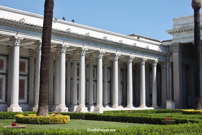 St. Paul Outside the Walls, facade, Rome, Italy, Catholic Church, major basilica, statue, mosaics, photo, travel, colonnade, columns