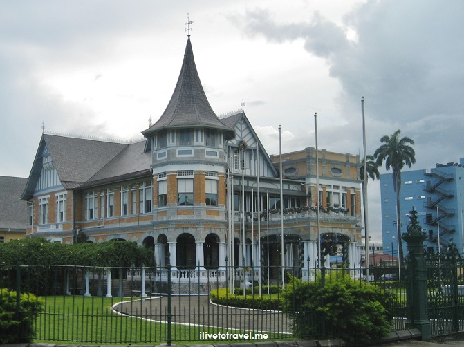 Port of Spain, Trinidad, Tobago, architecture, dark sky, travel, photo