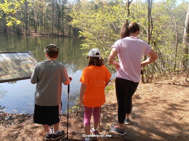 Sope Creek, Paper Mill, Atlanta, Georgia, hiking, kids, lake, colorful, photo, travel