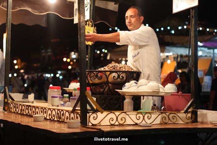 Morocco, food stand, medina, Djemaa el Fna, Jemaa el-Fnaa