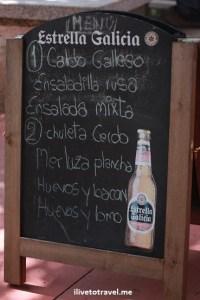 pilgrim's menu, Camino de Santiago, Camino, Spain, food, trekking, hiking, Canon EOS Rebel