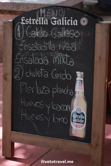 pilgrim's menu, Camino de Santiago, Camino, Spain, food, trekking, hiking, Canon EOS Rebel