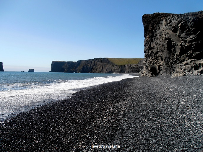 Dyrholaey, peninsula, Atlantic Ocean, Iceland, black sand, lava rocks, volcanic, travel, photo, Olympus