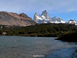 Fitz Roy, Chaltén, glacier national park, parque nacional glaciares, Patagonia, Argentina, hiking, trekking, photo, travel, Samsung Galaxy, mountains, blue sky