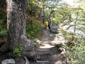 hiking, Torres del Paine, mountains, Patagonia, Chile, sunlight, morning light, Olympus, photo, trekking, travel,