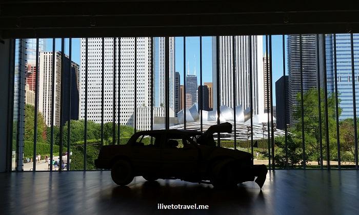 Art Institute, Chicago, art, travel, sculpture, Charles Ray, Samsung Galaxy, Hancock Tower