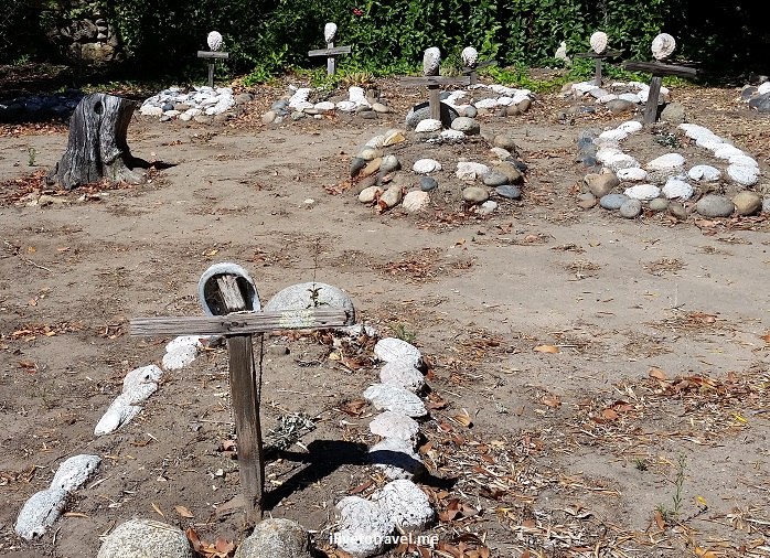 Carmel Mission, grave, cemetery, rocks, tombs, California, history, religion, church, travel
