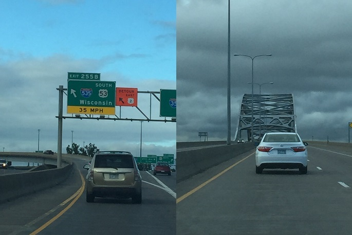 I-535, Duluth, Superior, bridge, Wisconsin