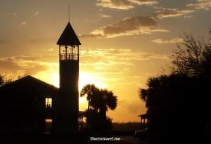 Brunswick, Georgia, sunset, sun, cloud, silhouette, golden, sky, photo
