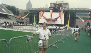 Eraser, Arnold Schwarzenegger, premiere, 1996, Atlanta, Olympics, Olympic Games, Georgia Tech