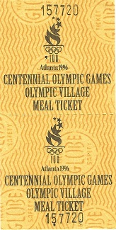 Atlanta, Olympics, 1996 Games, volunteer, Georgia Tech, photo, cafeteria