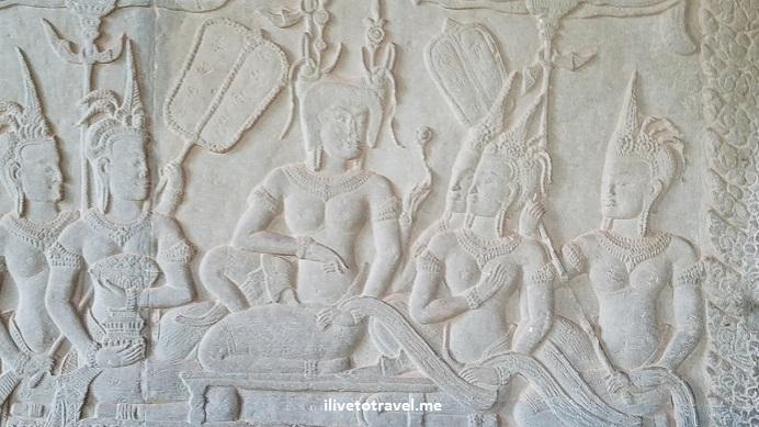 Angkor Wat, temple, Siem Reap, Cambodia, Cambodge, Camboya, travel, explore, viajes, Asia, photo, carving, Samsung Galaxy