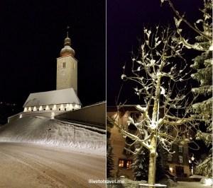 Lech, Vorarlberg, Austria, ski, ski town, snow, night, winter