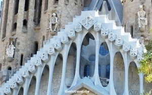 Barcelona, La Sagrada Familia, basilica, iglesia, church, Catholic, spire, Spain, Catalunya, Espana, Passion façade