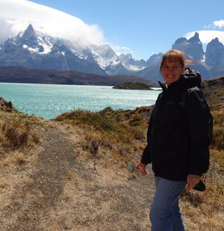Lisa in Torres del Paine National Park, Chile