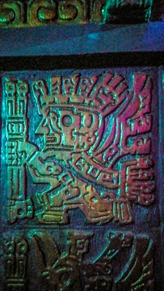 Pre-Columbian Wall Art at The Mayan in Downtown Los Angeles