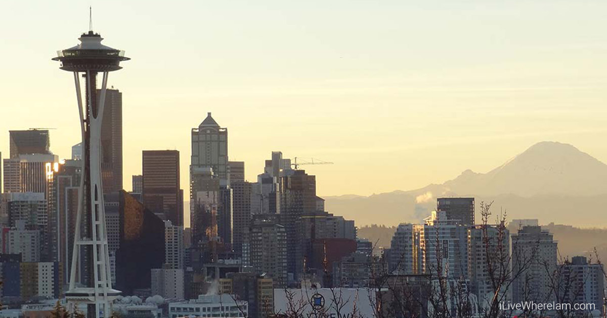 Seattle Skyline with the Space Needle from Kerry Park