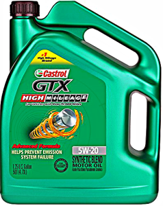 Castrol gtx sae 5w 20 high mileage synthetic blend motor for Best high mileage synthetic motor oil