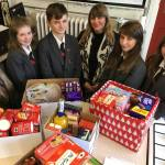 OIEA Students donate food to project supporting vulnerable people on their own at Christmas.