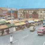 Ilkeston market 1959.  See Betty O'Neill's article in our current paper.