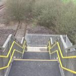 A walk over the new footbridge near the viaduct.Walking the new Bennerley Footbr…
