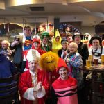 Ilkeston Town football fans in fancy dress before today's match.Ilson away