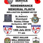 Wellington Bomber Remembrance Service at Stanley