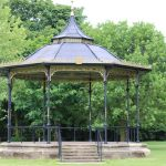 Bandstand is now a grand stand…