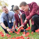 Hundreds of poppies have been created by staff and students at Saint John Hought…