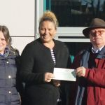 Councillors Phillipa Tatham and Frank Phillips have presented a cheque for £1,00…