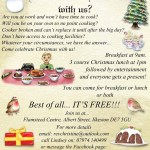 Christmas meal offer at Flamsteed Centre…
