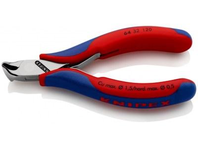 Die KNIPEX Elektronik-Schraegschneider 64 32 120 ist einPräzisionszangen für feinste Schneidarbeiten wie z. B. in Elektronik und Feinmechanik