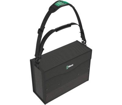 Der Wera 2go 2 XL Werkzeug-Container mit extra tiefen Fächern ist durch seinem Klettsystem und seiner Kompaktheit die ideale Lösung für einen