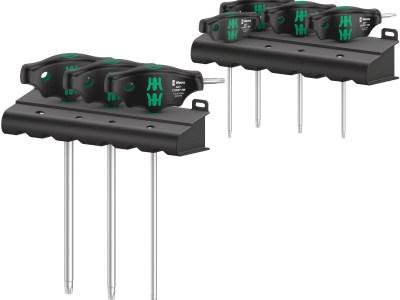 Die ideale Griffform vom Wera 467/7 TORX® HF Set 1 Schraubendrehersatz Quergriff TORX ermöglicht die Übertragung besonders hoher Anzieh- und