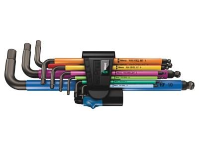 Der Hochwertige Wera 950/9 Hex-Plus Multicolour HF 1 Winkelschlüsselsatzz mit farbcodierter, komfortabler Schlauchummantelung. Dank der