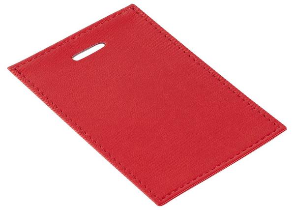 Чехол для пропуска Twill, красный купить оптом с логотипом ...