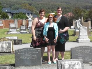 Loretta Blinksell - Katrina Christian - Clare Adams - great great great great grandchildren of James and Margaret Hicks
