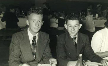 Maxwell & John O'Keefe at St Johns Year 6 Farewell, 1949