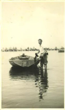 Maxwell at Lake Illawarra, circa 1956