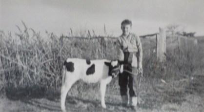 Trevor Smith getting ready for Albion Park Dapto Show. Circa 1959