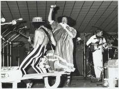 "Date: 1974: Aunty Jack Concert ""Aunty Jack in Bloody Concert"" debut with Garry McDonald debuting Norman Gunston character: Grahame Bond (Aunty Jack), (Garry McDonald (Kid Eager), Rory O'Donoghue (Thin Arthur),"