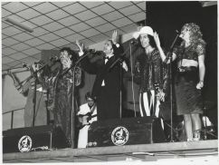 "1974: Aunty Jack Concert ""Aunty Jack in Bloody Concert"" debut with Garry McDonald debuting Norman Gunston character: Grahame Bond (Aunty Jack), (Garry McDonald (Kid Eager), Rory O'Donoghue (Thin Arthur), Sandra Macgregor (Flange Desire), unknown"