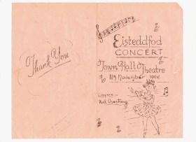 11th Nov 1966, Eisteddfod Concert program