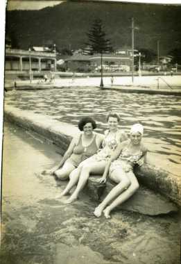 Austinmer Pool - Glad Bray, Dot Craig, Margery Bray