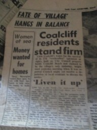 Newspaper Article - Coalcliff Shacks