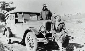 Rube Chamberlain and her sister Phyll at Sandon Point in the 1920's - P04132