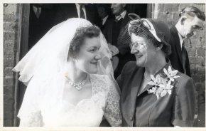 Beryl and her Mum - 1954